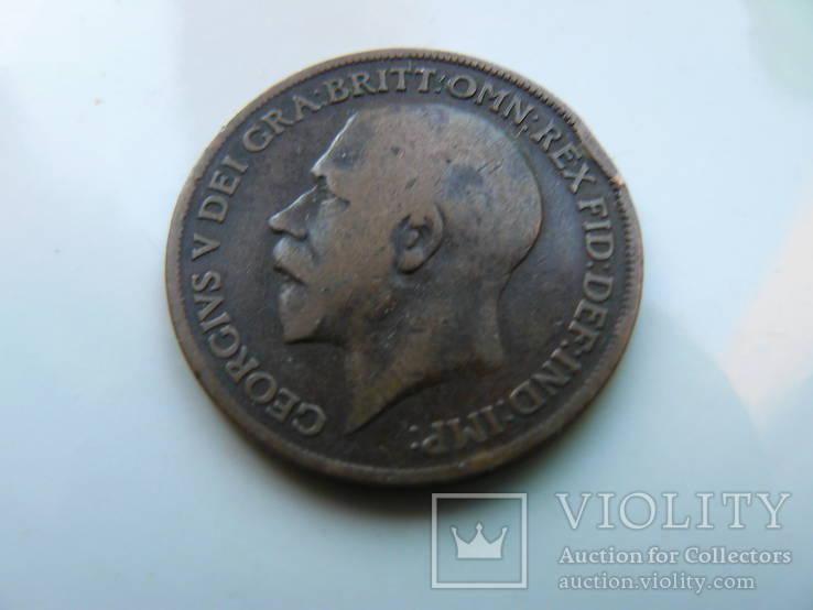 "Великобритания ""1 пенни 1917 г. Георг V"", фото №3"