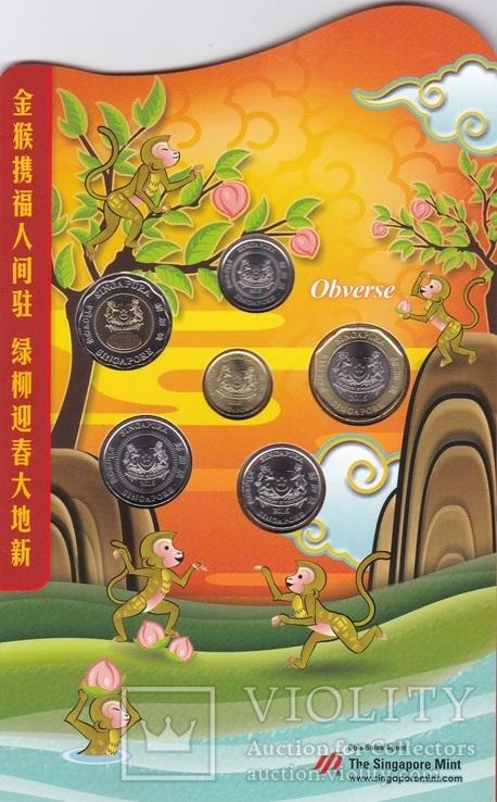 Singapore Сингапур - 5 10 20 50 Ct 1 5 Dollars 2016 UNC mint набор 6 монет JavirNV, фото №4
