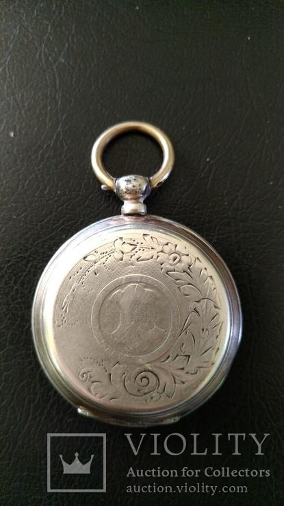 Серебряные карманные часы, фото №3