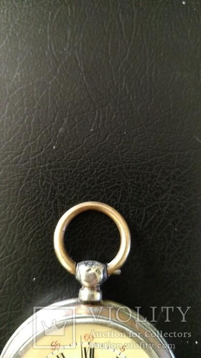 Серебряные карманные часы, фото №7