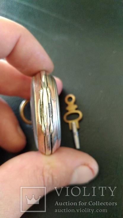 Серебряные карманные часы, фото №9
