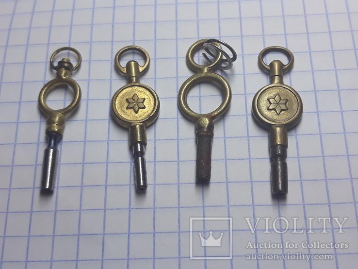 Ключи от старинных карманных часов