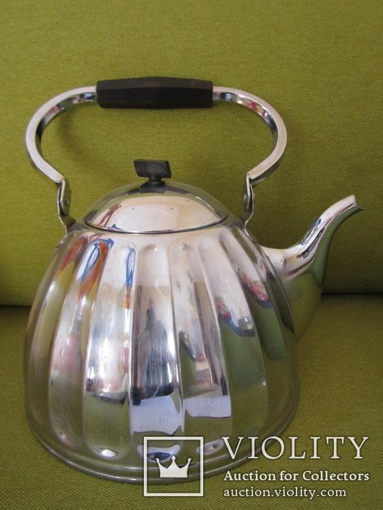 Чайник большой латунь 1968 года пр-во СССР с клеймом, фото №2
