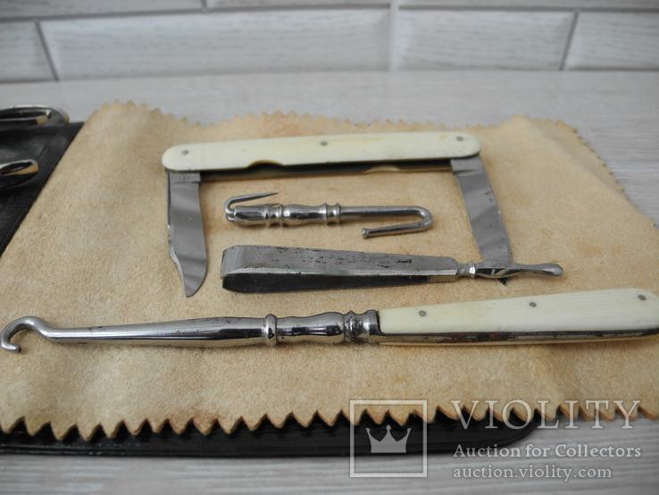 Старинный Маникюрный набор ( Слоновая кость ) Европа, фото №9