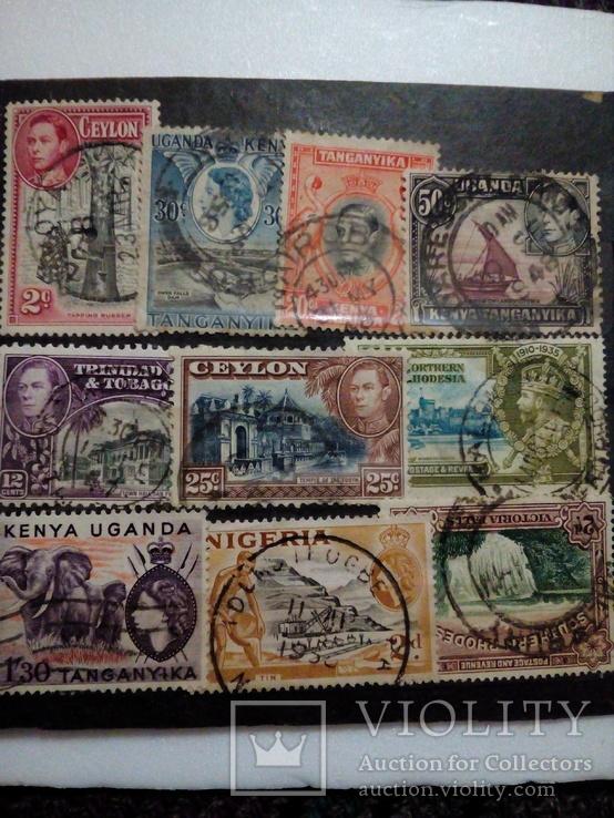 Британские колонии 10 шт, фото №2