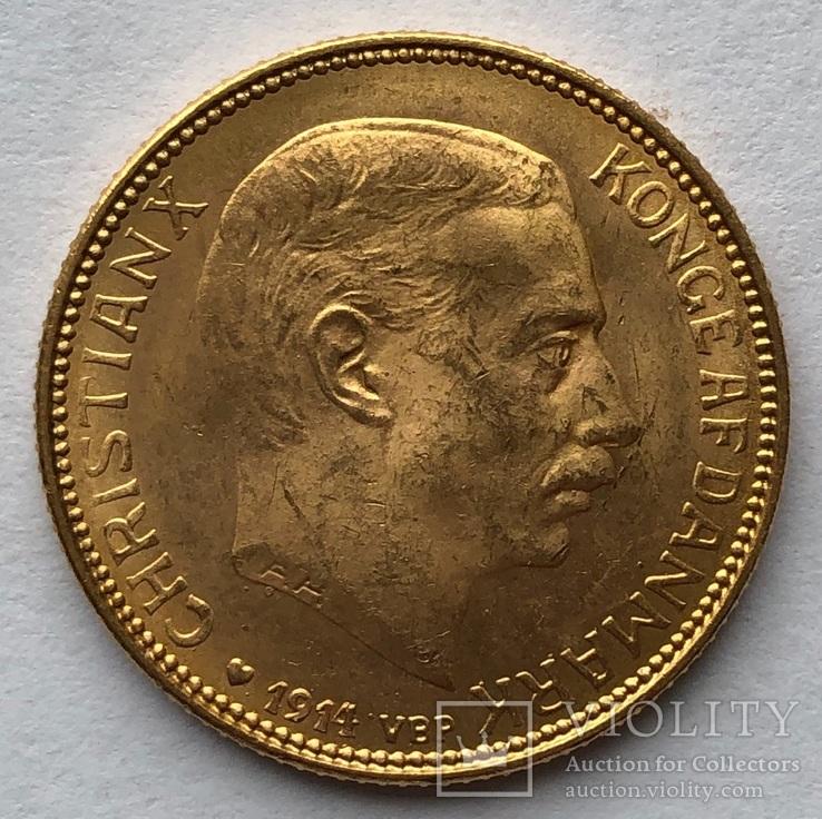 20 крон 1914 г. VBP Дания.