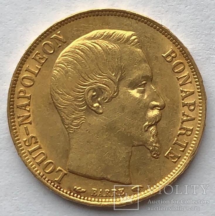 20 франков 1852 г. «А». Франция.