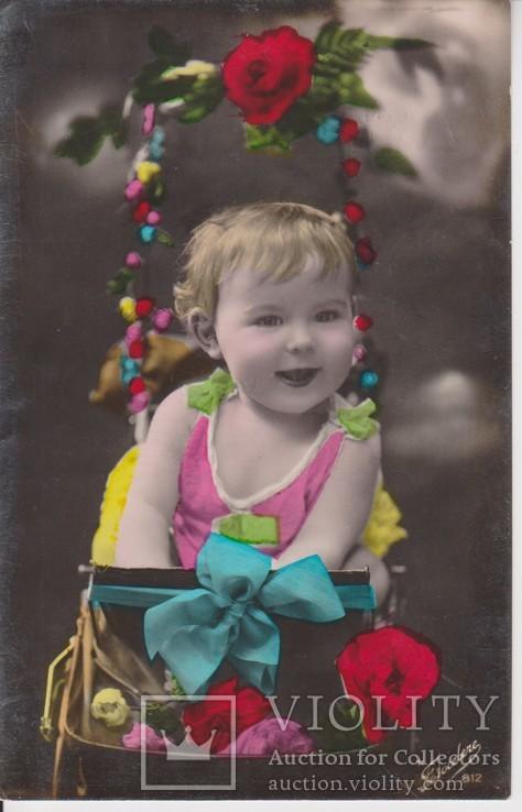 """Открытка """"Ребёнок в коляске"""", фото №2"""