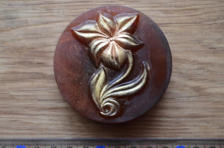 Мыло ручной работы -Каменный цветок- с ароматом мимозы 90 г, фото №4