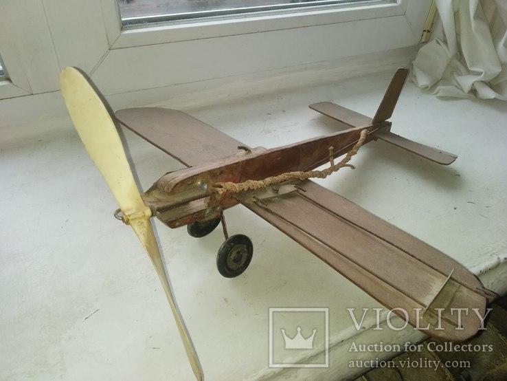 Самолёт деревянный, большой