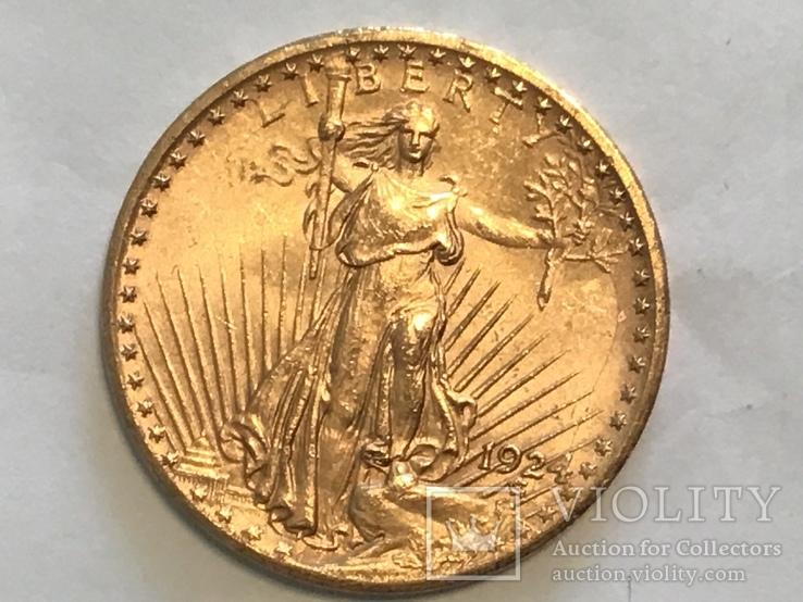 20 долларов 1924 года США золото 33,4 грамм