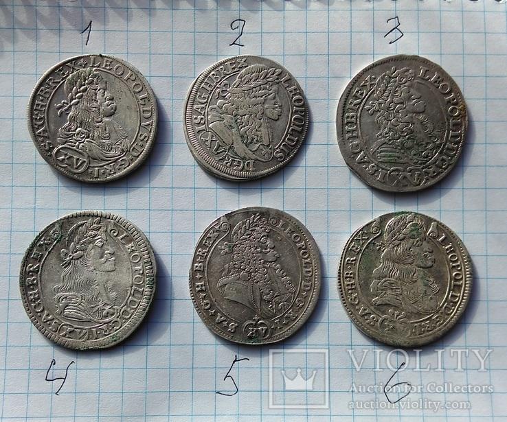 15 крейцеров леопольда  6 монет австрия венгрия