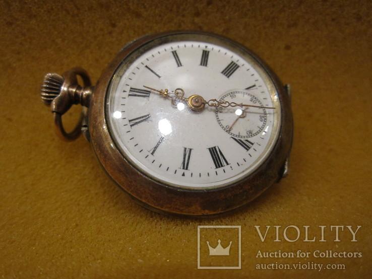 Часы Cilindre Швейцария дореволюционные карманные 10 камней серебро 800пр.