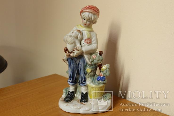 Мальчик с щенком, фото №2