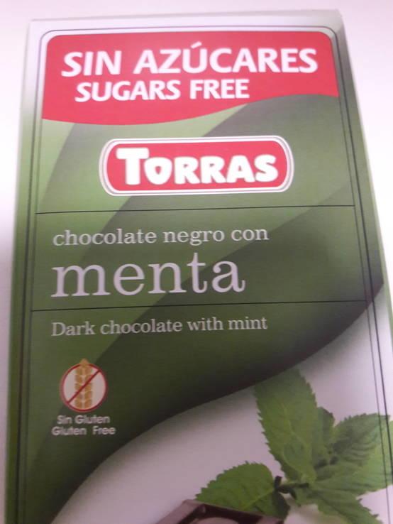 Шоколад без сахара Torras черный с мятой Испания 75г, фото №9
