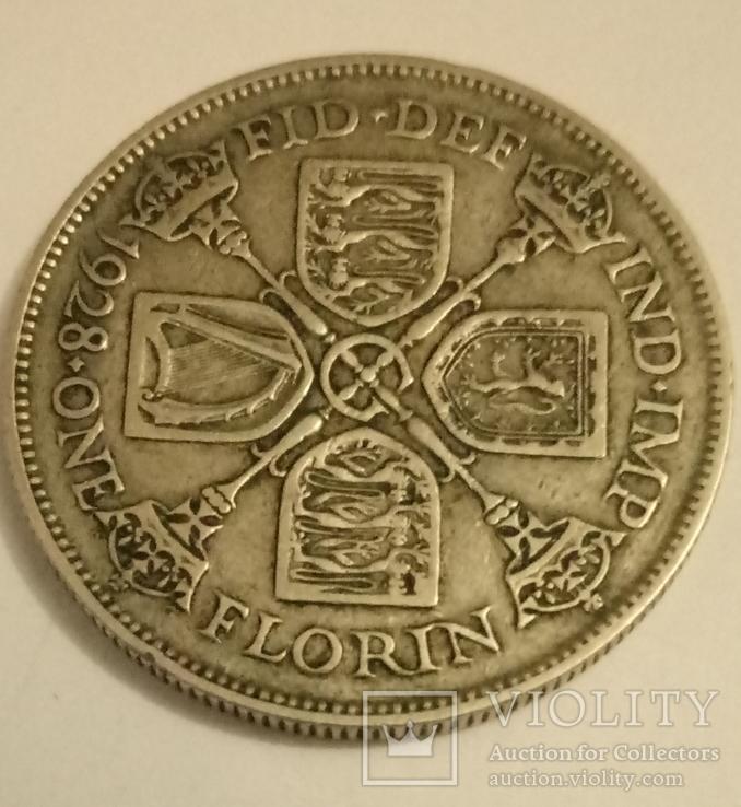 1 флорин 1928г.