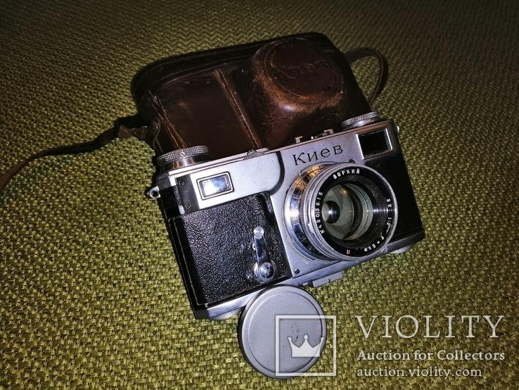 "Фотоаппарат ""Киев-2"" 1949 год объектив ""Зоркий ЗК"" утопающий, фото №2"