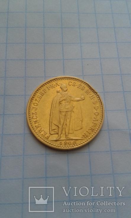 10 крон 1900р. Золото. Угорщина. Венгрия.