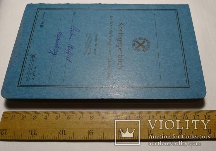 Немецкая расчётная книга Kontogegenbuch, фото №11