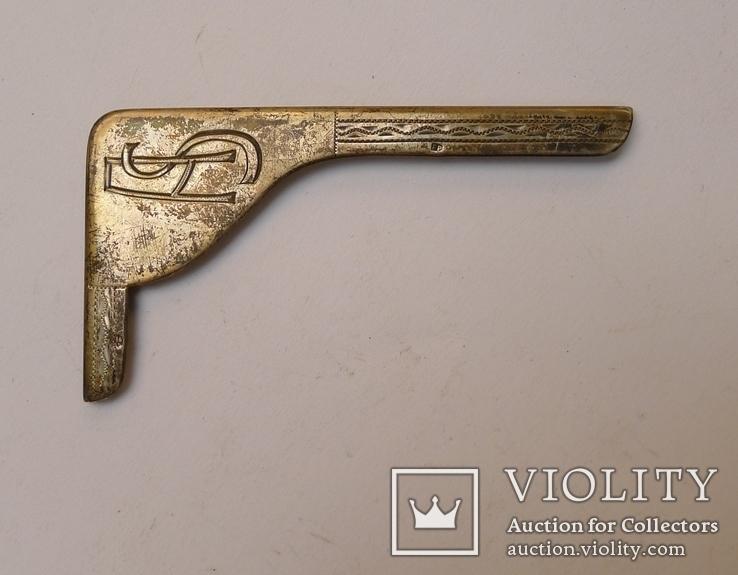 Австро - Венгерская серебряная накладка., фото №3