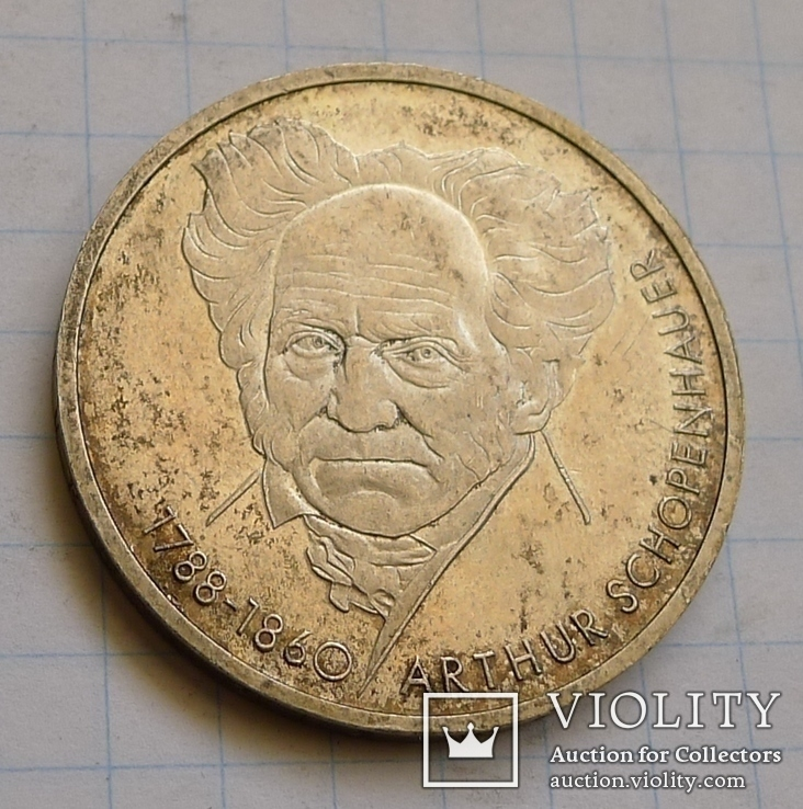10 марок ФРГ. Артур Шопенгауер.