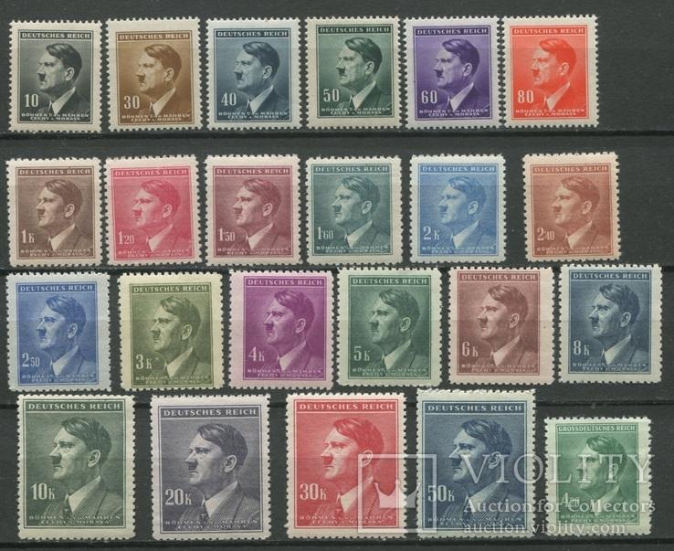 1942-45 Рейх Богемия и Моравия Гитлер 2 полных выпуска MNH **