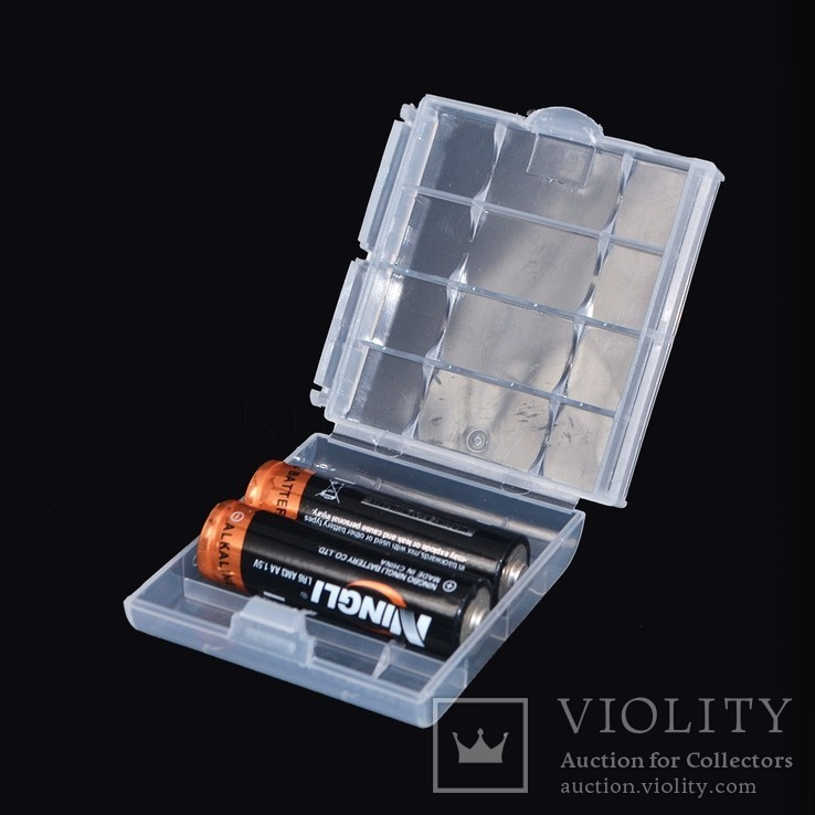 Коробка, бокс, кейс, Футляр для пальчиковых батареек АА или мини ААА