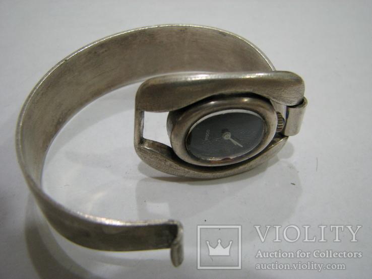 Серебряный (800-я) браслет и корпус женских часов., фото №4