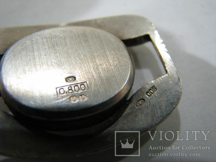 Серебряный (800-я) браслет и корпус женских часов., фото №5