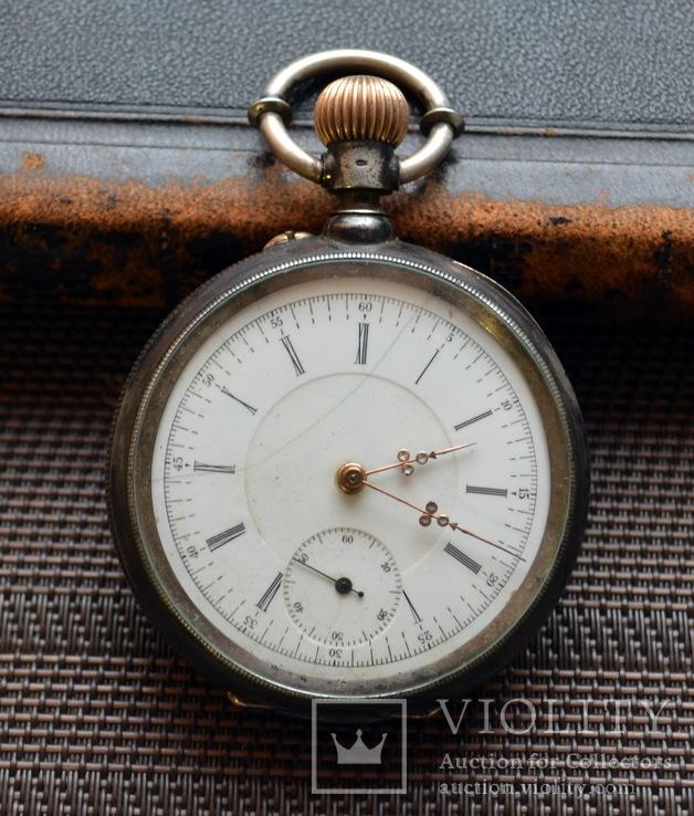 R.Schmid,карманные часы в серебре