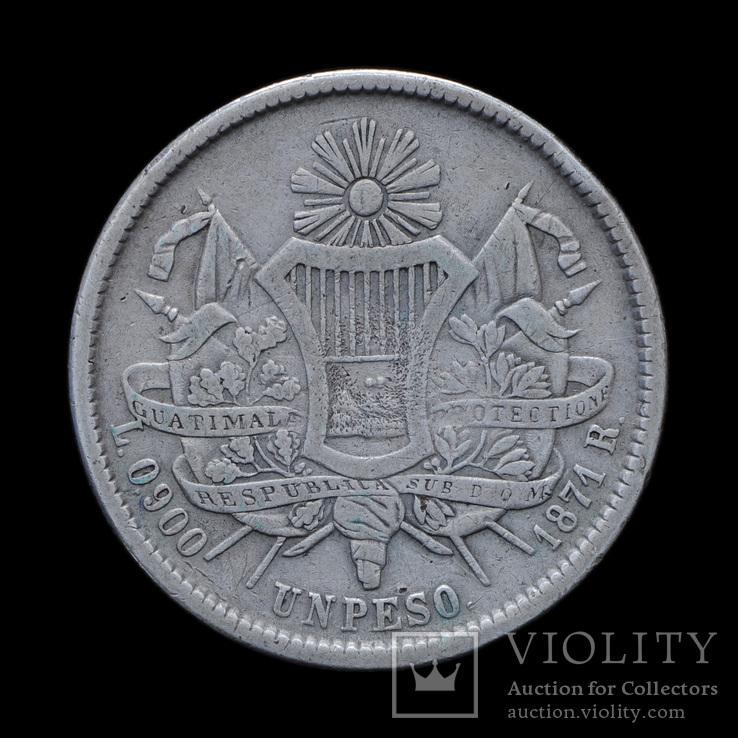 1 Песо 1871, Гватемала