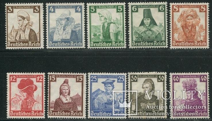 1935 Рейх  полная серия женщины в костюмах