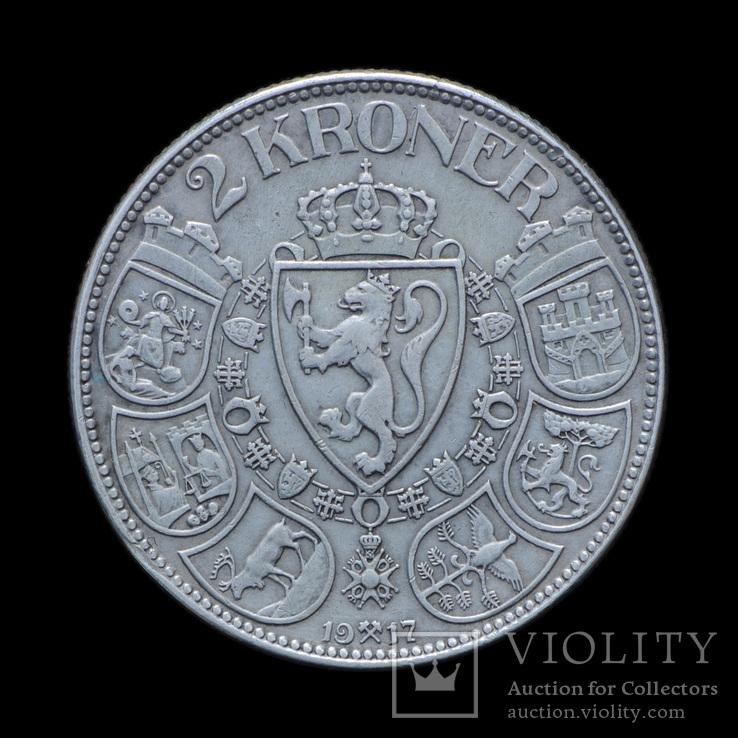 2 Кроны 1917 Хаакон VII, Норвегия
