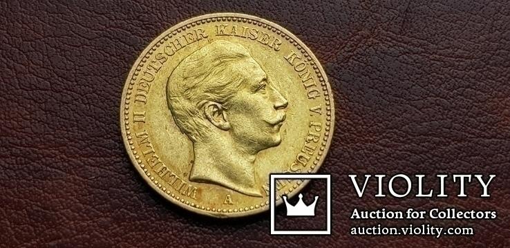Золото. 20 марок 1897 г. Пруссия. Германия