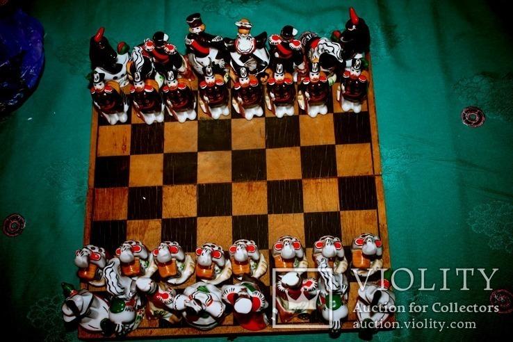 Шахматные фигурки фарфор шахматы Вербилки СССР