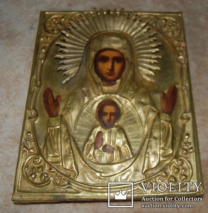 Знамение в латунном окладе, фото №2
