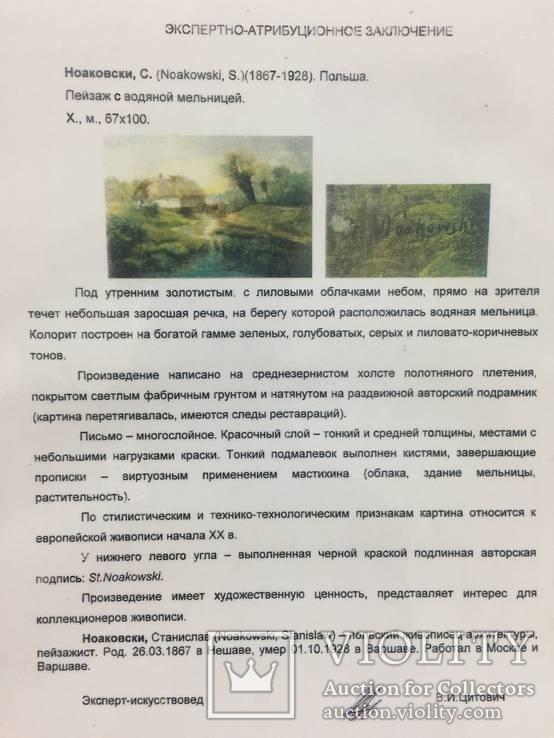 Картина (пейзаж) художник Ноаковски Станислав (1867-1928), фото №7