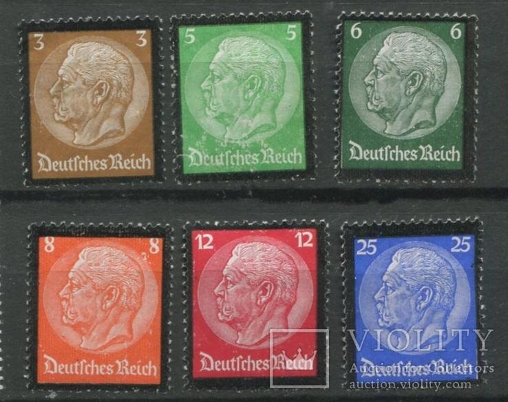1934 Рейх Гинденбург траурный выпуск полная серия