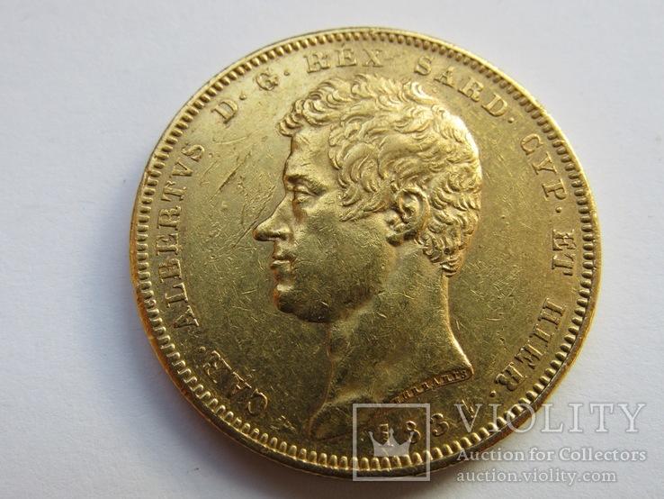 100 лир 1834 г. Сардиния
