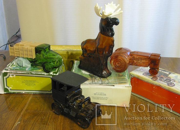 10 флаконов Avon  лось трубка авто трактор собака, фото №4