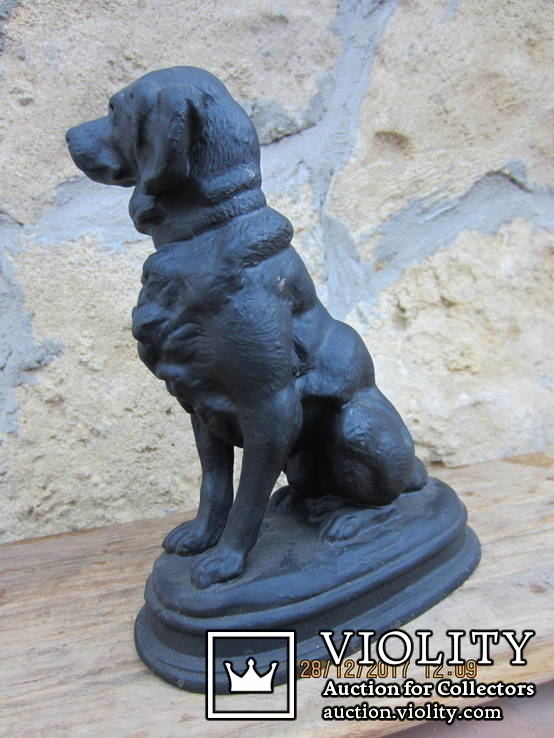 Фигурка собака, чугун