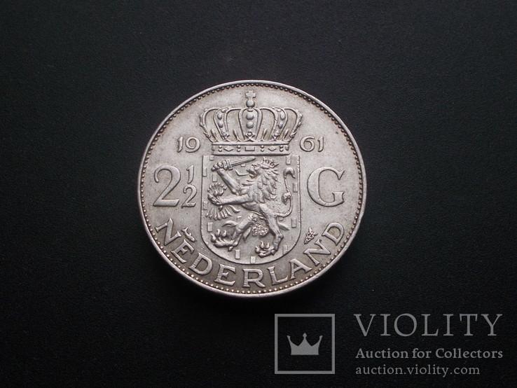 Нидерланды 2½ гульдена, 1961 Серебро (№4)