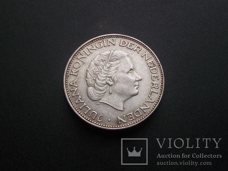 Нидерланды 2½ гульдена, 1961 Серебро (№4), фото №3