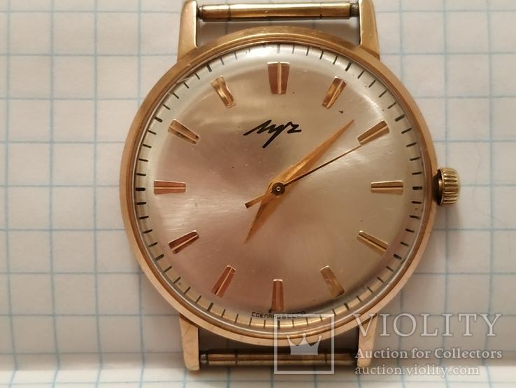 """Часы """"Луч 2209"""",Ау 10+ на 23 камнях (рабочие с коробкай и документами)."""