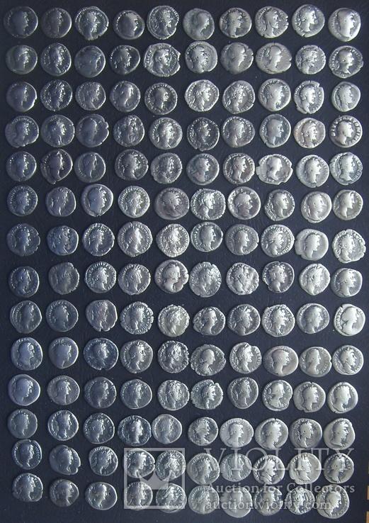Монеты Древнего Рима (денарии) 140 штук.