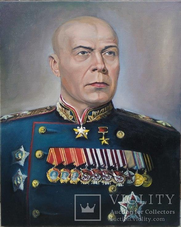 Маршал Тимошенко, Холст масло.