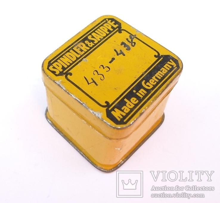 Немецкая жестяная коробочка Spindler & Sauppe, фото №3