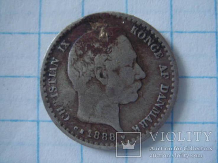 Дания 10 оре 1888 г, фото №3