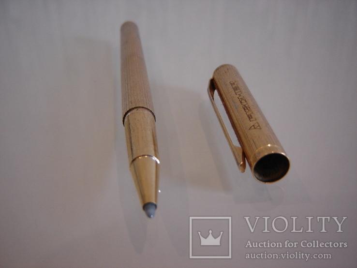 Ручка шариковая позолоченная 18 ct gilded germany dummert, фото №8