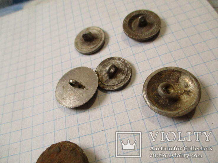 Пуговицы  лысые, разные 60 шт, фото №10
